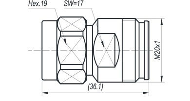 4.3-10F to N male adapter
