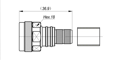NM-LMR400-RG8 Crimp